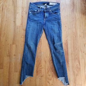 Rag & Bone Capri Hampton Cropped Skinny Jeans 25